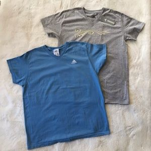 Adidas Lot of a Gray and Blue Short Sleeve Tee XL